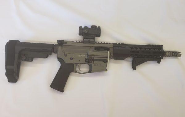 custom built rifle 9mm pistol